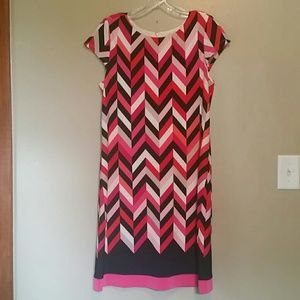 Dress Barn Geometric print dress